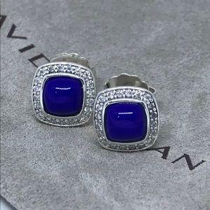 David Yurman and Lapis earrings